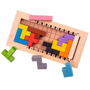 Drewniana gra logiczna ułóż klocki -BigJigs