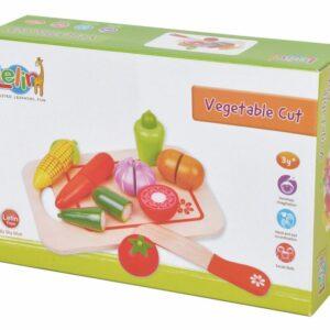Drewniane warzywa do krojenia na desce - Lelin