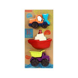 Loaders & Floaters – zestaw 3 minipojazdów – B.Toys