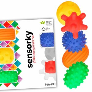 Piłeczki sensoryczne Sensorky 5 sztuk w pudełku - Mom's Care