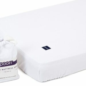 Prześcieradło bawełniane białe 60×120 cm - Poofi