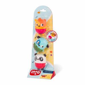 Squish & Splash – zestaw trzech rozkręcanych sikawek z pieskiem - B.Toys