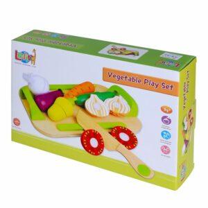 Zestaw - drewniane warzywa do krojenia