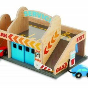 Drewniany Parking-Garaż z Myjnią i Stacją Benzynową - Melissa & Doug
