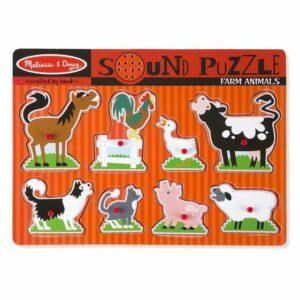 Puzzle Dźwiękowe Zwierzęta na Farmie - Melissa & Doug
