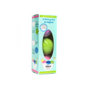 Zestaw 3 musujących kul do kąpieli dla dzieci - MINI-U