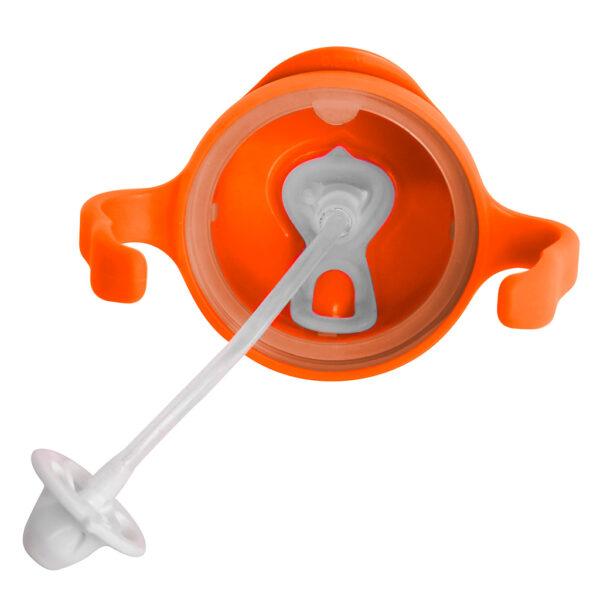 Bidon ze słomką 240 ml - pomarańczowy - b.box