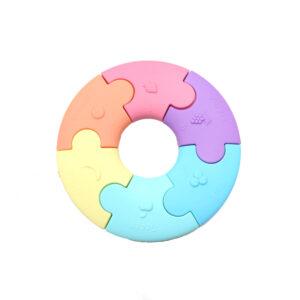 Pierwsze puzzle sensoryczne - pastelowe kółko - Jellystone Design