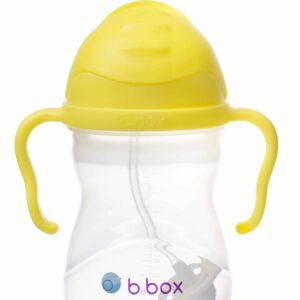 Bidon ze słomką 240 ml - Cytrynowy - b.box